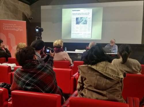 Charla de Antonio de la Peña sobre o patrimonio arqueolóxico de Lourizán