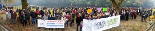 Manifestación contra o trasvase