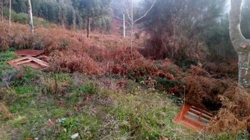 Verquido de portas, na pista forestal do Pituco.