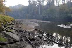 Río Verdugo preto da Ponte de Comboa, Soutomaior
