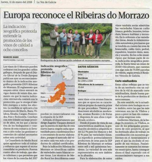 La Voz, 11 xaneiro 2018