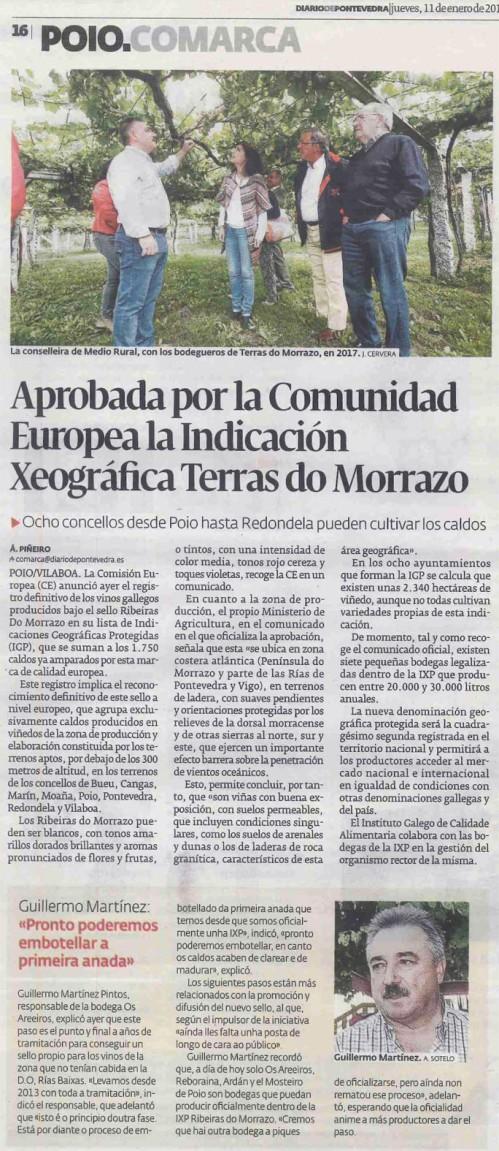 Diario, 11 xaneiro 2018