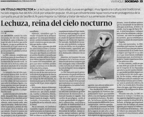 Diario, 8 xaneiro 2018