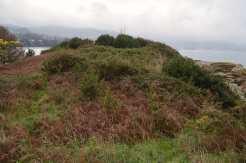 Antigo asentamento castrexo na illa do Santo
