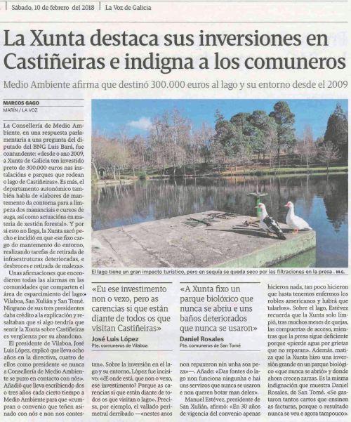 La Voz, 10 febreiro 2018