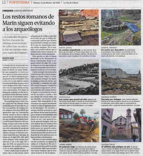 La Voz, 16 febreiro 2018