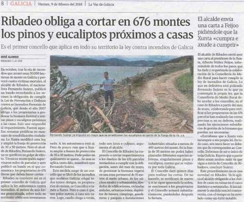 La Voz, 9 febreiro 2018