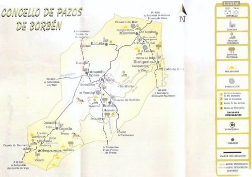 Plano esquemático de Pazos de Borbén