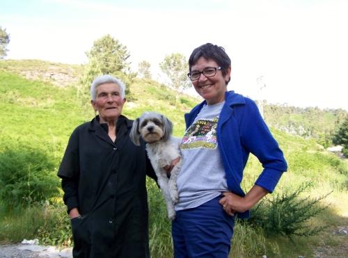 Dona Lucinda e Esther, no Monte Pituco