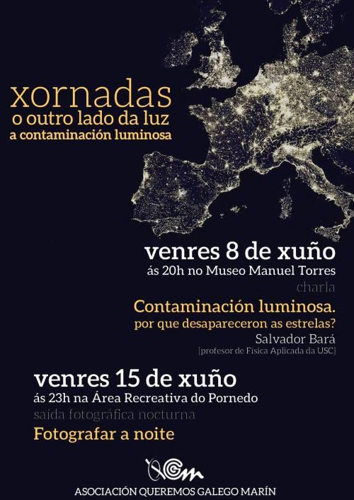 Queremos Galego Marín: contaminación luminosa