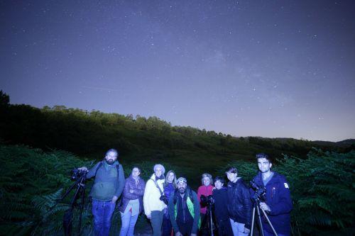 Fotografía nocturna dende o Monte Pituco (Fran Currás)