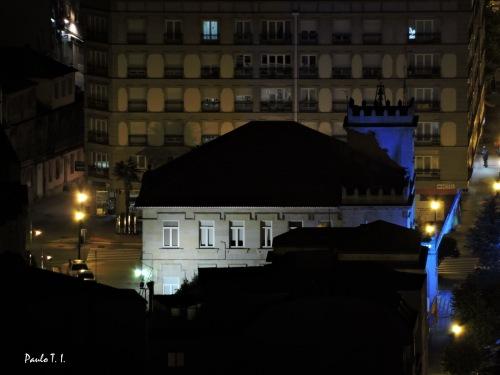 Fotografía nocturna dende o Monte Pituco (Paulo Troitiño)