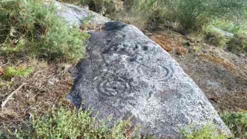 Petroglifo de Pinal de Caeiro, 'O ciclista'
