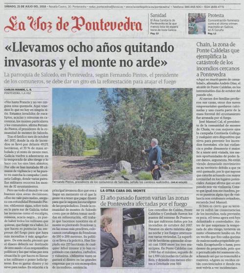 La Voz, 21 xullo 2018