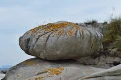 Formacións rochosas en Areoso