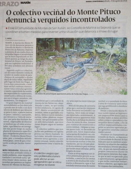 Diario, 25 agosto 2018