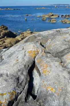 Formación de sal nas oquedades das rochas