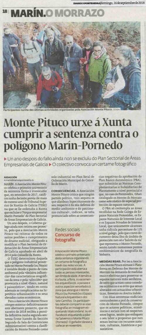 Diario, 16 setembro 2018