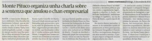 Diario de Pontevedra. 21 outubro 2018