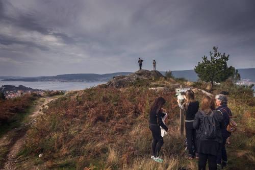 Ruta polo Monte Pornedo nas II Xornadas de Patrimonio de San Xián (foto, Fran Currás)
