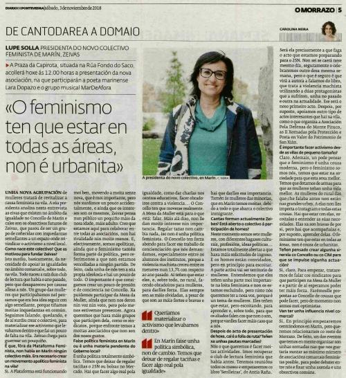 Diario, 3 novembro 2018