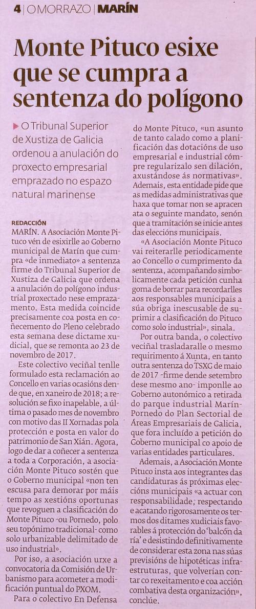 Diario, 12 xaneiro 2019