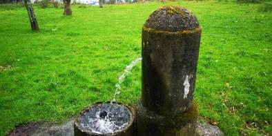 Falta de mantemento das tres fontes da arboreda, que botan auga a caño libre