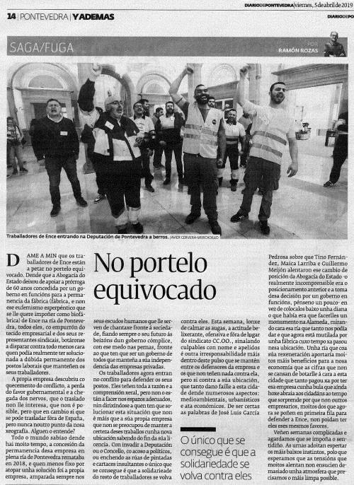 Diario, 5 abril 2019