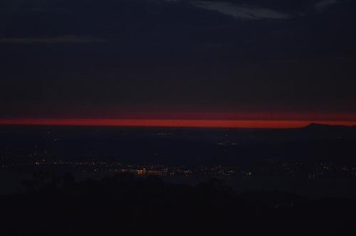 No horizonte, o monte da Curota, visto dende Cotorredondo