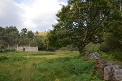 Casa abandonada preto do petróglifo de O Soutiño
