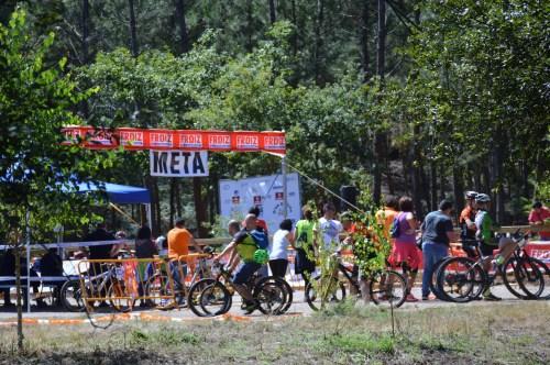 Competicións ciclistas no monte de Salcedo