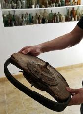Museo de obxectos recuperados do río, en Cabanas (Salcedo)