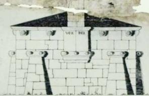 Plano da fachada posterior deseñado por Urbano Lugrís
