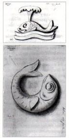 Deseño da ornamentación do arco central realizado por Lugrís