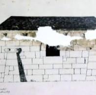 Plano do lateral da capela deseñado por Urbano Lugrís