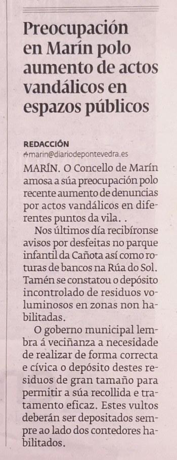 Diario de Pontevedra, 15 agosto 2020