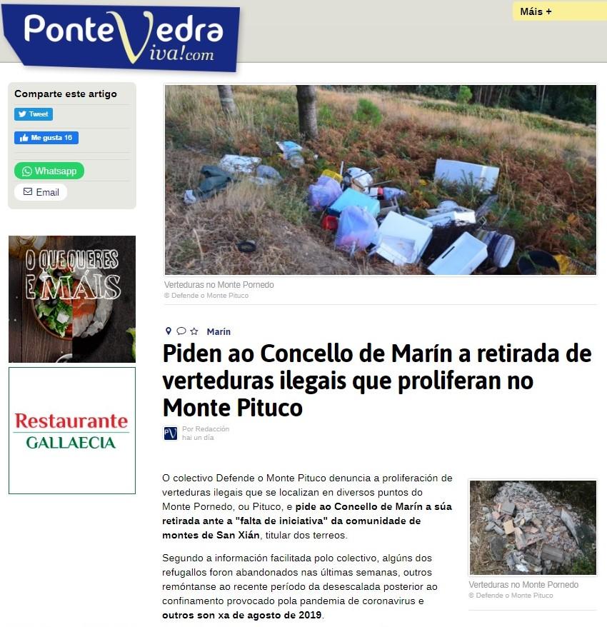 Vertidos: Pontevedraviva. 7 agosto 2020